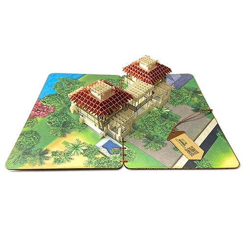 バリ島ヴィラ『アニキリゾートライフ』 立体切り絵カード(バリ島限定販売)