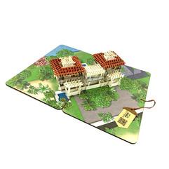 バリ島 リゾートヴィラ 3D切り絵カード