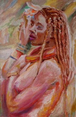 53-RAGAZZA AFRICANA-40x60-2002