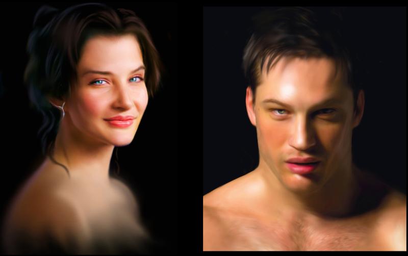 Concept art per personaggi di romanzo (2013)