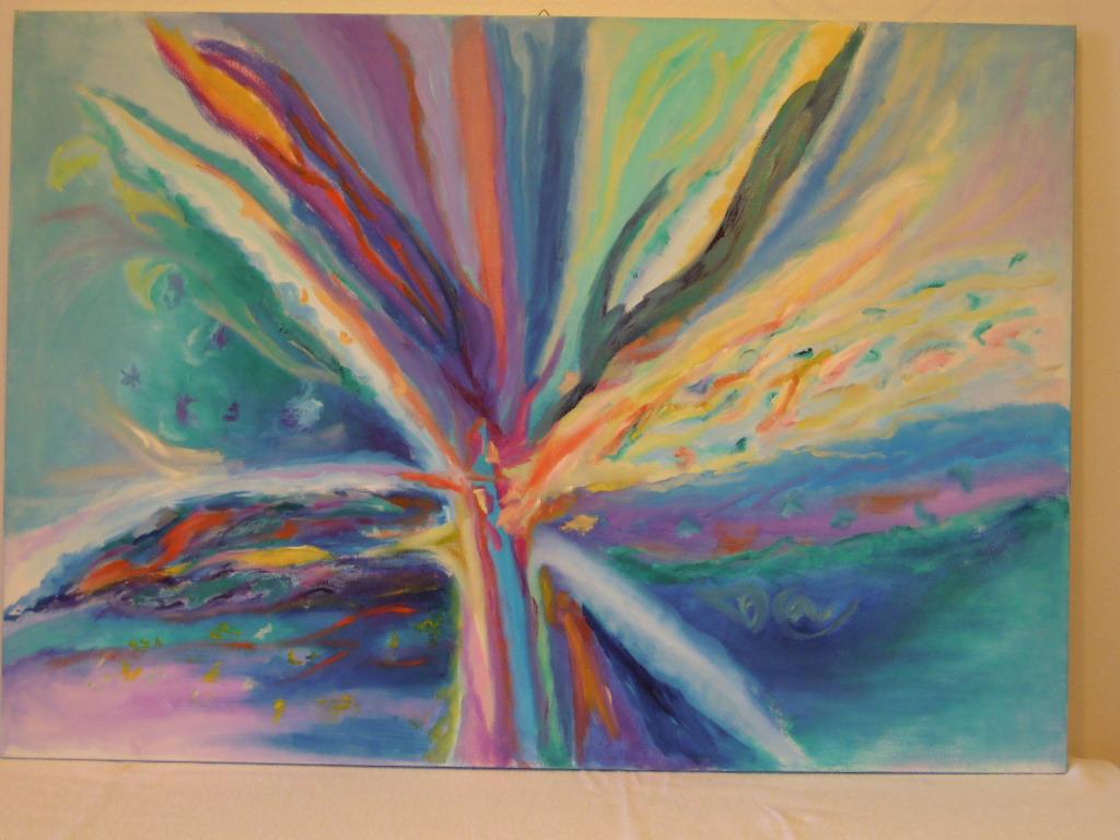 ESPLOSIONE- olio su tela 100x70- 2012-