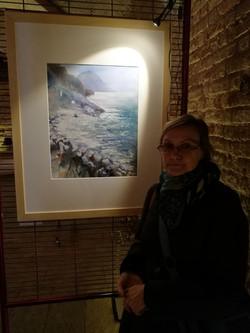 Vilma Rattazzi all'esposizione Acquerelli al Castello, Abbiategrasso