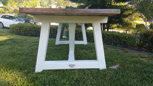 Get Ready For The Summer With A Custom Build All Wood Picnic Table Great Outdoor Entertaining Or Even As Rustic Dining Room