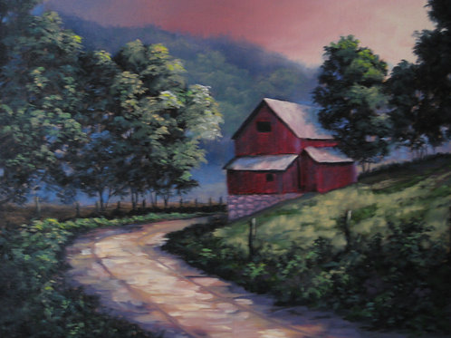 Country Barn Shadows