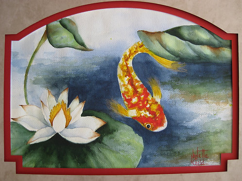 Koi in the Lillies