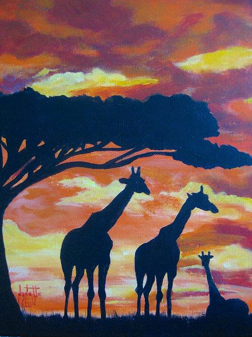 Giraffe on the Serengeti
