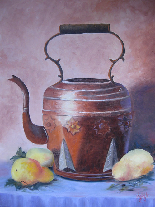 Tea Kettle and Pears