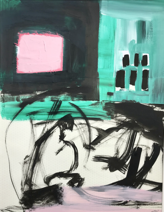 'Abstracted Pink square'