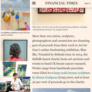 Art for Cure featuring in Financial time