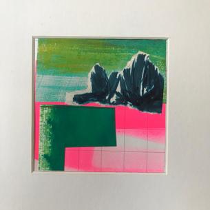 'Distant tree - green field'