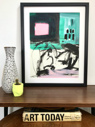 'Abstracted pink square' in situ