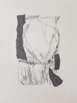 DryPoint etching of Landscape