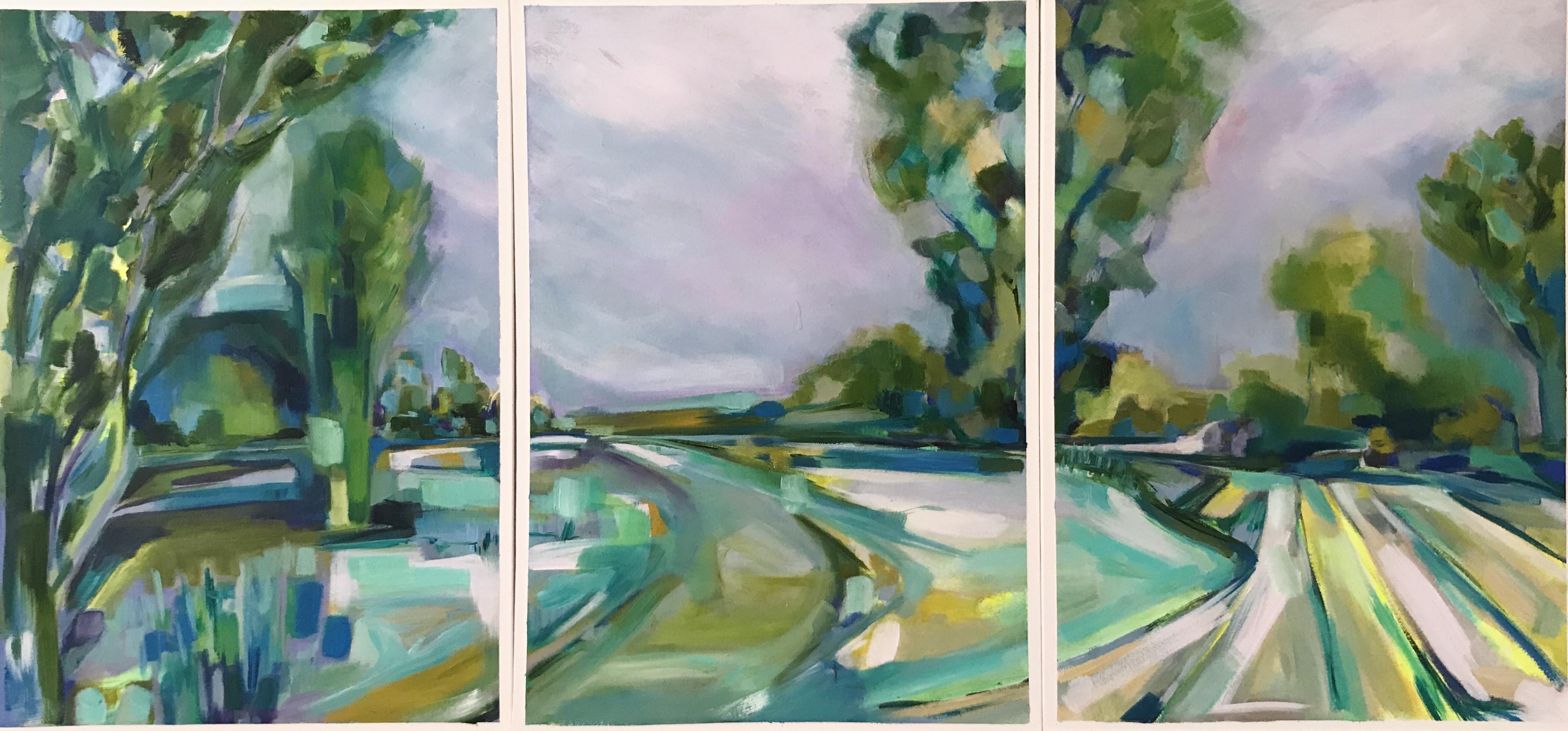 'Standing Still' (Newbourne Suffolk Triptych
