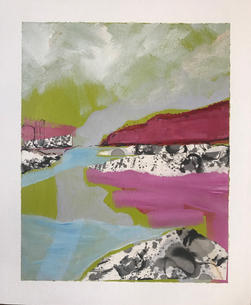 'Pink light on the Rocks'
