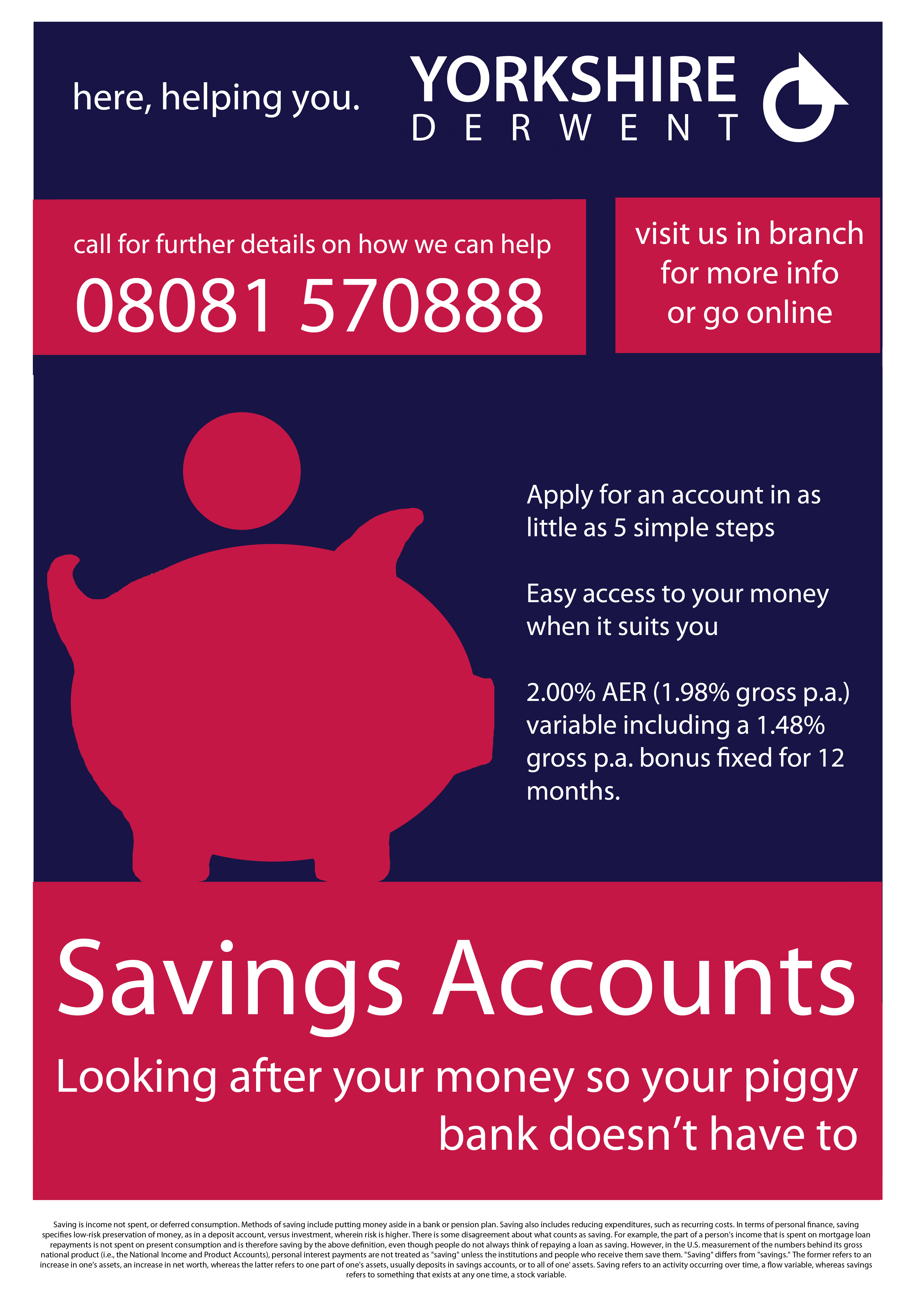 Savings Account Bank Poster
