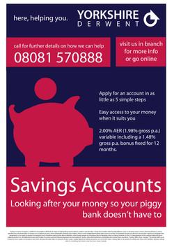 Savings Account Bank Poster