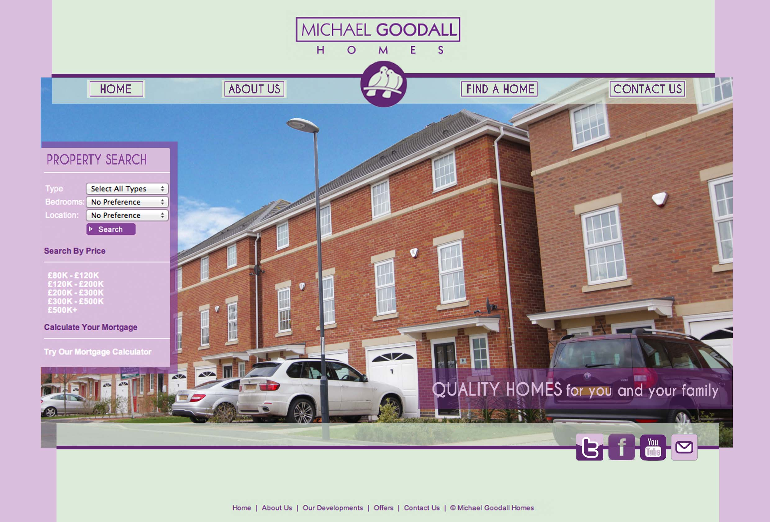 Michael Goodall Homes Web Design