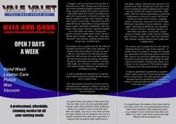 Car Wash Leaflet Graphic