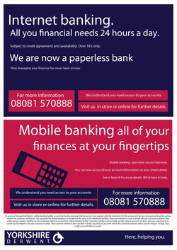 Internet banking poster graphic