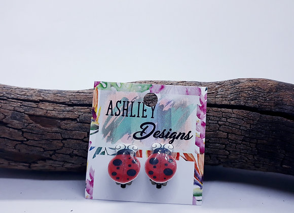 Lady Bug Clip-ons
