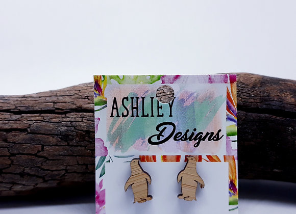 Wood Penguin Studs