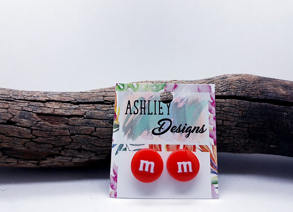 Red MM Studs