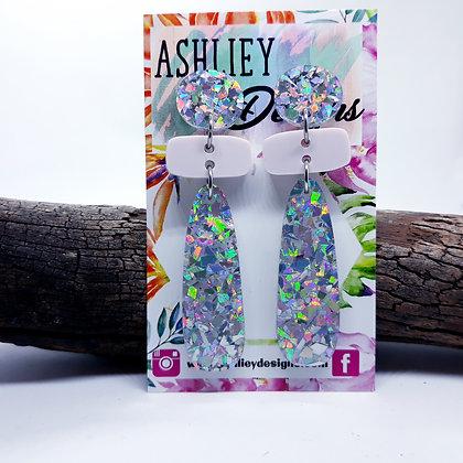 Silver/Dusty Pink Dangles