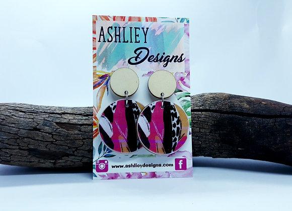 Pink/Black Dangles