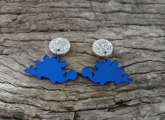 Blue Stegosaurus Mirror Dangles