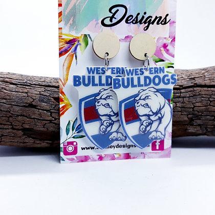 Small AFL Bulldogs Dangles