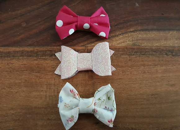 Pink 3 Pack Small Bows