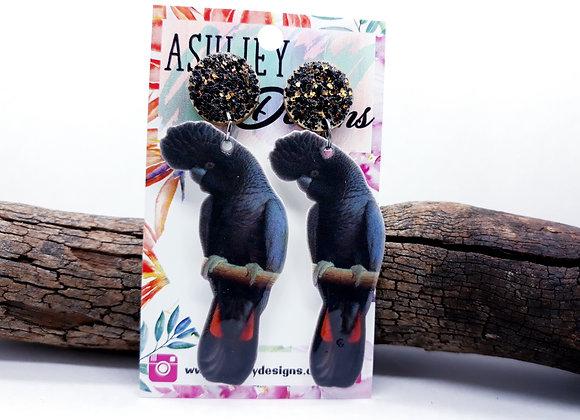 Black Cockatoo Dangles