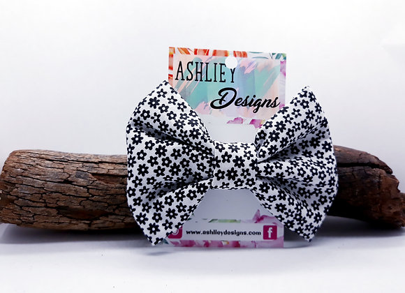 Black Flower Bow