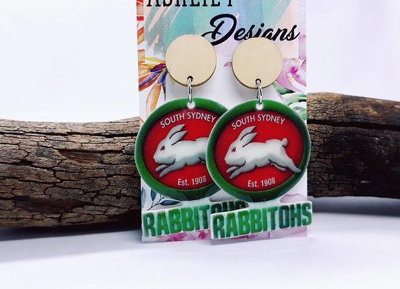 Large Rabbitohs Dangles