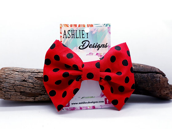 Red/Black Spot Bow