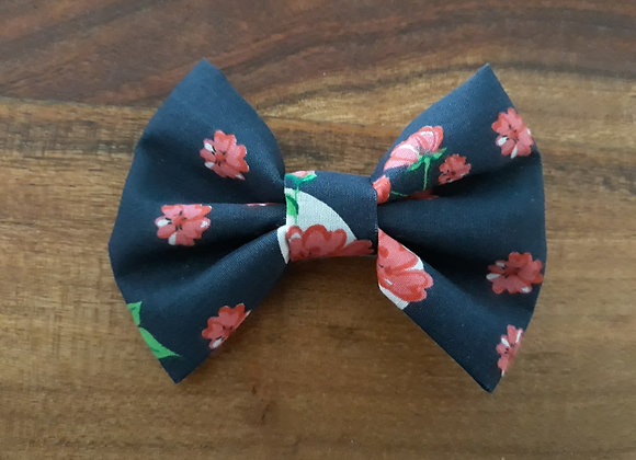 Navy Flower Bow