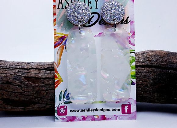 White Opalescent Dangles