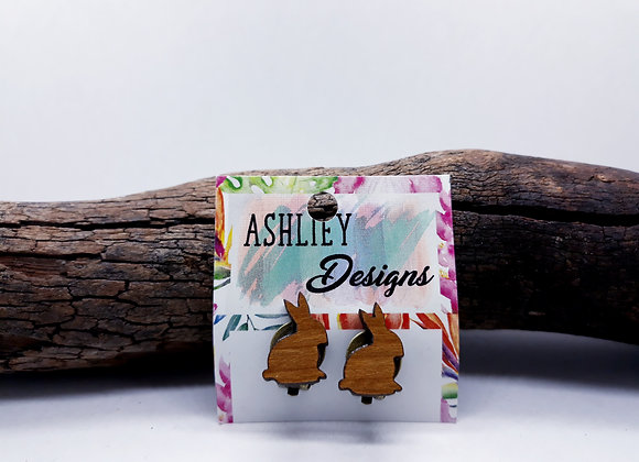 Wood Bunny Clip-Ons