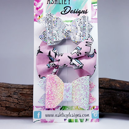Unicorn 3 Pack Small Bows