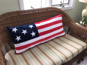Plush Patriotic Pillow