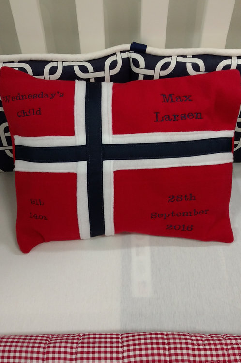 Heritage Flag Birth Announcement Pillows
