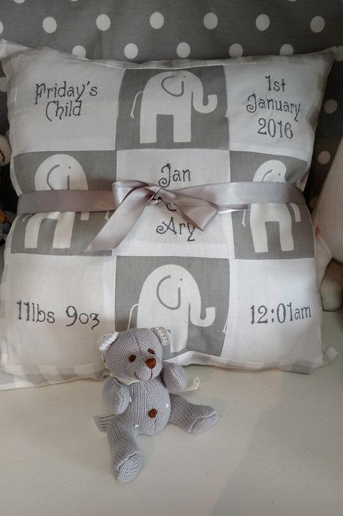 Custom Birth Announcement Pillows