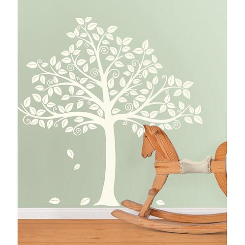 Wall Pops Tree Silhouette Ivory