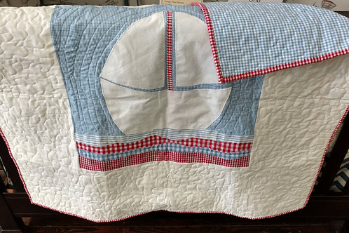 SailBoat Quilted Blanket