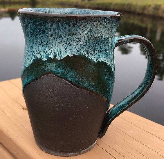 SeaSpray and turquoise Mug
