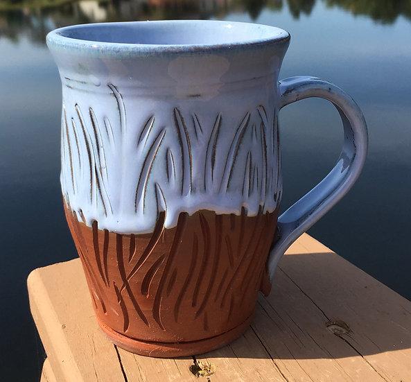 Carved Castile Mug