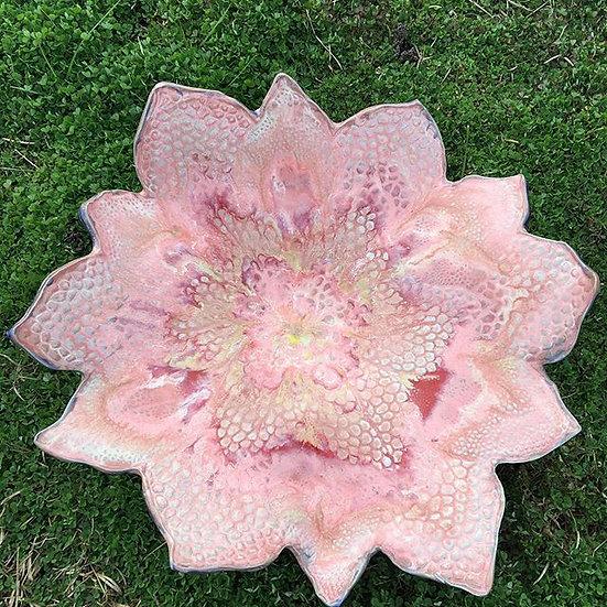 Large Flower Shallow Bowl