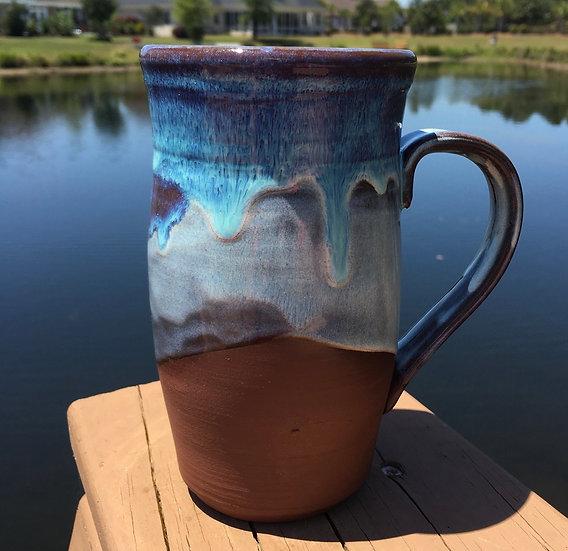 Large Blue and Purple Wave mug