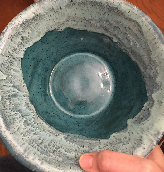 Turquoise and sea spray bowl