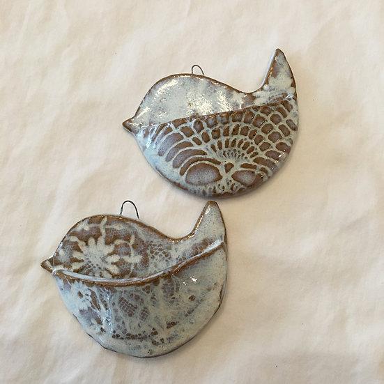 White Bird Ornaments